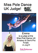 Miss Pole Dance UK Judge